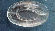 Knabberschale Glas oval