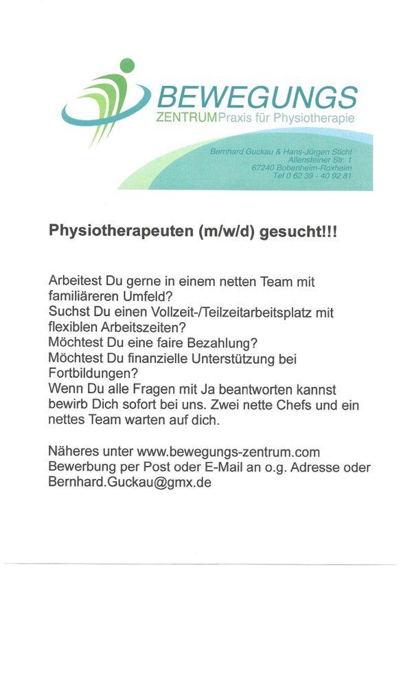 Physiotherapeuten m w d