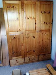 Kleiderschrank 3türig mit Schubladen 205hochx150x58cm