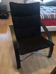 Faltbarer Stuhl Klappstuhl schwarz