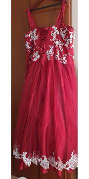 Hochzeit Kleid Rot mit Bolero