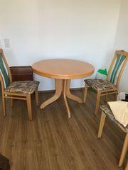 Esstisch rund inklusive 6 Stühlen