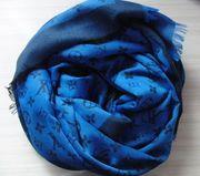 Louis Vuitton Schal - Mittelblau Schwarz