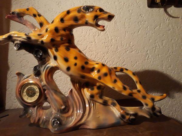 Kaminuhr Leopard