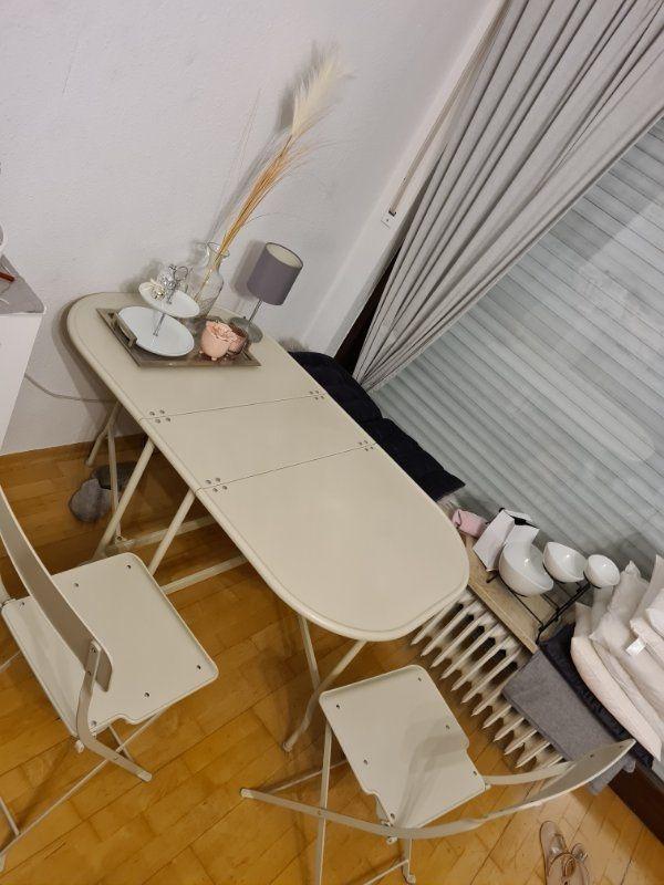 Stahltisch beige IKEA Saltholmen