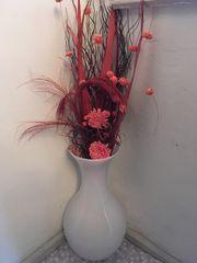 Vase aus weißem Glas