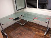 Glas- Schreibtisch