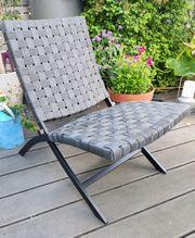Klappsessel Cuba-Chair Outdoor grau neu