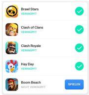 Supercell Account zu verkaufen Clash