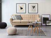 3-Sitzer Sofa Polsterbezug beige MOTALA neu