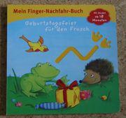 Finger-Nachfahr-Buch Geburtstagsfeier für den Frosch