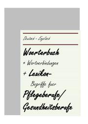 Englische deutsche PflegeBegriffe fuer auslaendisches