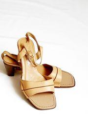 Echt Leder Sandalette Sandale Gr