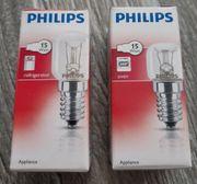 2x PHILIPS-GLÜHBIRNEN - 15W E14 - Kühlschrank