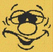 Vorlage für Ministeck Smiley13 40x40cm