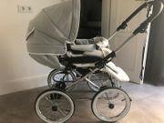Emmaljunga Kinderwagen Mondial Deluxe Leder