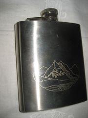 Alpia Flachmann Taschenflasche aus Edelstahl