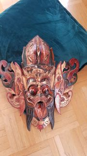 Echte Balinesische Holzmasken Deko