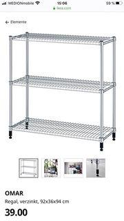 Zwei Ikea Omar Regale zu