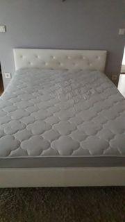 Kunstlederbett weiß