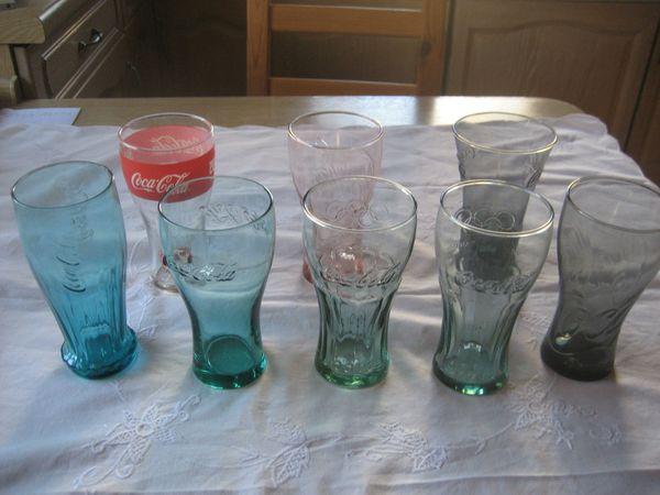 8 Coca Cola Gläser ca