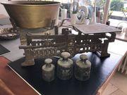 Waage alte Markt-Waage mit Gewichte