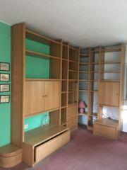 Wohnzimmer Schrankwand Echtholz furniert