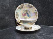 Sammelgedeck Kaffeegedeck Perlmutt mit barockem