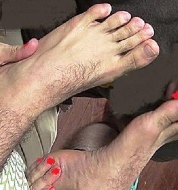 Erotische Fußmassage für echte Kerle