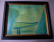 abstrakt Ölgemälde Gemälde signiert