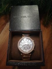 Armbanduhr Michael Kors rotgoldenes Gliederarmband