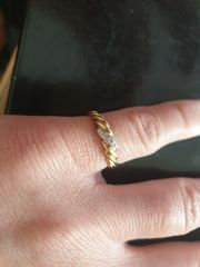 Damen Echt Gold Ring 585-er