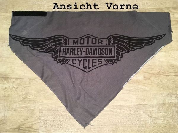 Harley Davidson Halstuch Dreieckstuch Grau