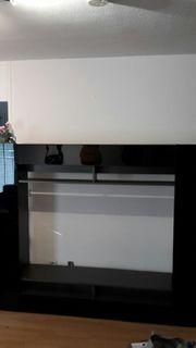 Wohnzimmer Schrank in Schwarz gebraucht