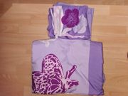 Bettwäsche lila gemustert 4 Teile