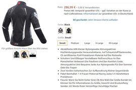 Bild 4 - Frauen Motorradjacke Atmungsaktive Motorradbekleidung Grösse - Gelsenkirchen Resse