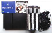 Playstation 2 slim mit Spielen