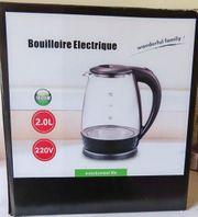 NEU Elektrischer LED-Marken-Wasserkocher 2 Liter