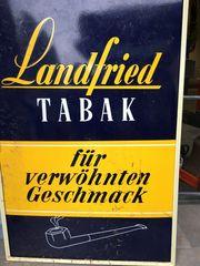 Emailleschild Tabak Landfried