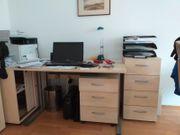 ZU VERSCHENKEN Büromöbel komplett