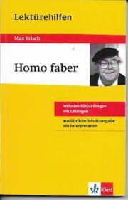 Klett Lektürehilfen - Max Frisch Homo