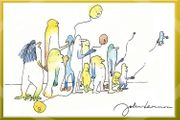 Original JOHN LENNON Kunstwerk Souvenir