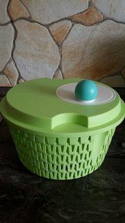 Tupperware-Salatschleuder mit Schüssel und Deckel