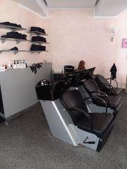 Friseureinrichtung Friseurbedarf Waschplatz Friseurstuhl