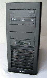PC Komplettsystem Lianli Miditower Alu-Gehäuse