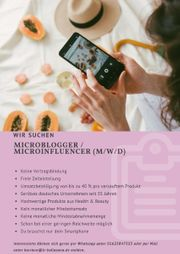 Microblogger Microinfluencer m w d