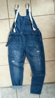 Latzhose Jeans Damen Gr M