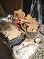 Lehmplatten Reste