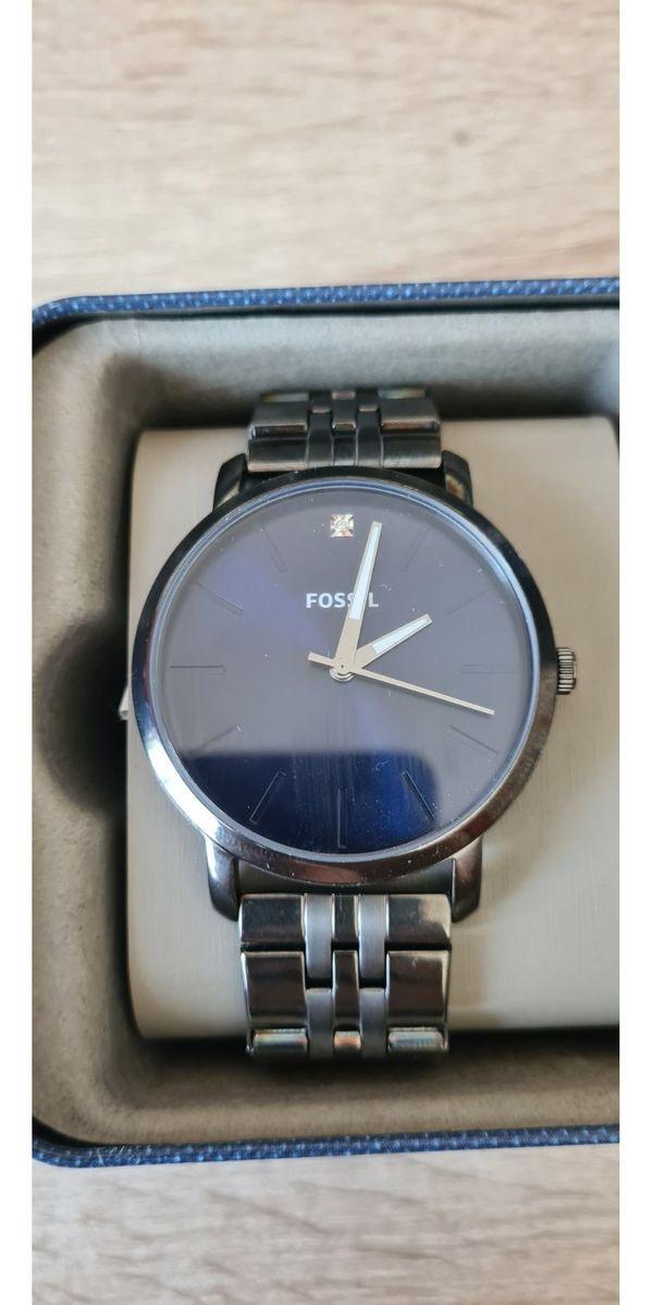 Fossil Herrenuhr Armbanduhr BQ2479 dunkelblau