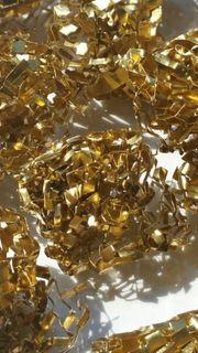 Dekoartikel Dekogewebe Aluminium Gold 4